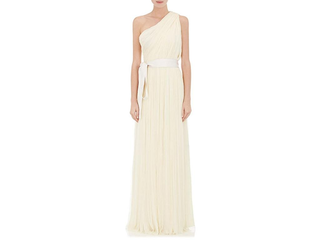 Lanvin One-Shoulder Tulle Gown, $5,000 Size: 14 | Used Wedding Dresses