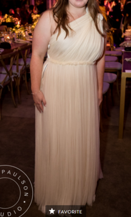 Lanvin One-Shoulder Tulle Gown, $4,000 Size: 14   Used Wedding Dresses