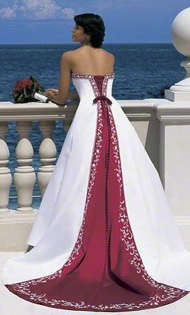 9f1560933b5b Pin it Add to: Alfred Angelo 1516 White/Claret Satin Gown -Flower Girl  Included 8
