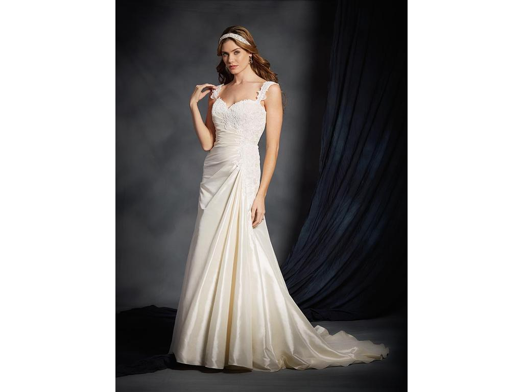 Alfred Angelo Strapless Lace Wedding Dress Ficts
