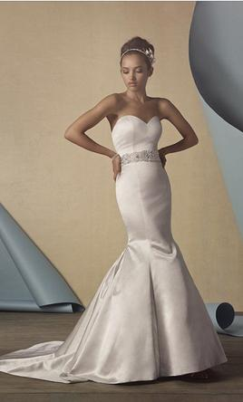 a4835951abc Pin it Add to  Alfred Angelo 2434 Satin Fit and Flare 4