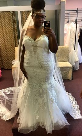 Allure Bridals W371 The Cathedral Veil 1 800 Size 24 Used Wedding Dresses