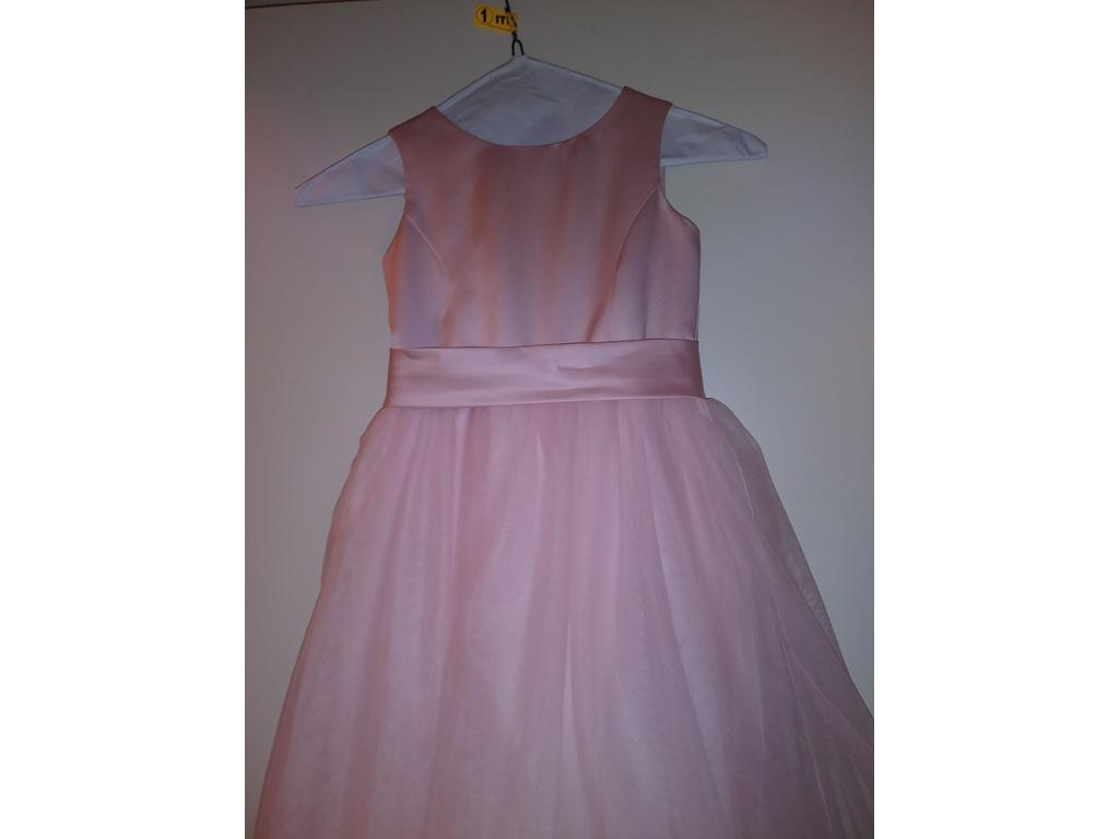 8c000ce3faa Pin it · David s Bridal Satin Flower Girl Dress with Tulle Skirt S1038