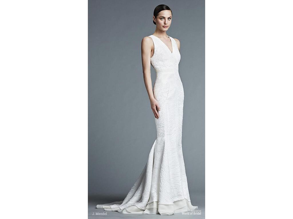 J. Mendel Ivory Silk Lace and Chiffon Spring 2016 Modern Wed, $5,500 ...
