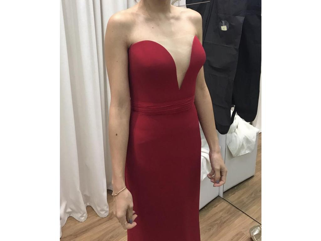 Reem Acra Red Evening Gown, $2,800 Size: 4 | Used Wedding Dresses