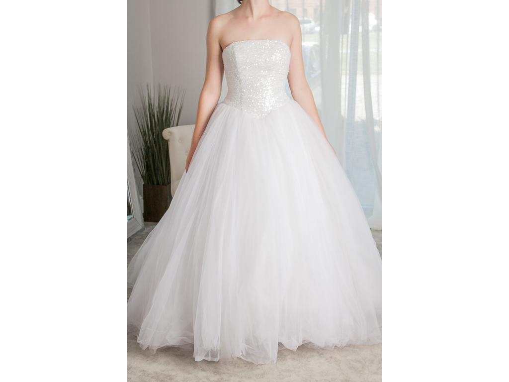 Oleg Cassini CU099, $650 Size: 4 | Used Wedding Dresses