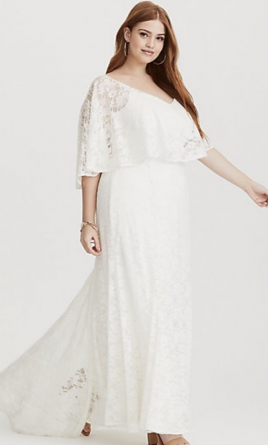 Other Torrid Runway Collection   white lace overlay gown, $60 Size