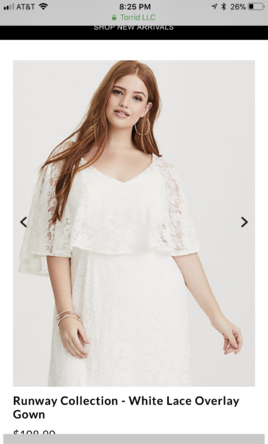 d096c97e3e5 Pin it · Other Torrid Runway Collection - white lace overlay gown 20