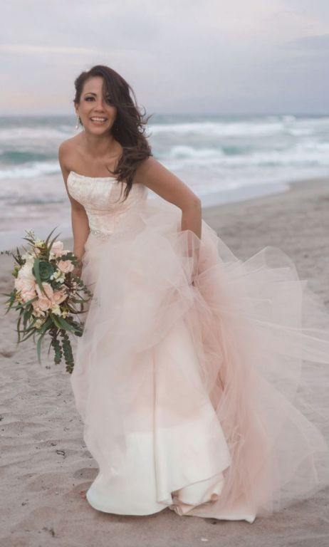 Other Custom-made Lace and Tulle Wedding Dress, $550 Size: 6 | Used ...