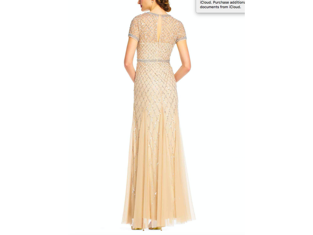Adrianna Papell cap sleeve beaded gown 6 PETITE, Size: 6 ...