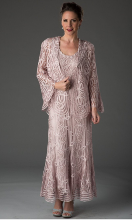 Other Soulmates Beaded Silk Lace Dress And Jacket C1068 Size 12 Mother Of The Bride Dresses