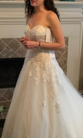 Lace And Tulle Ball Gown Wedding Dress Cheap Frills Jewellery