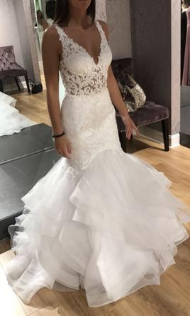 3b440011138a Mori Lee Kayla 8224 Wedding Dress | New (Un-Altered), Size: 6, $900