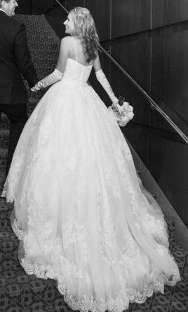 8b0c6a9ca607 Oleg Cassini Wedding Ball Gown with Lace Appliques/CWG749, $950 Size ...