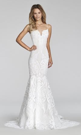 Hayley Paige Mermaid West Gown White overlay Ivory lining 2018 1371651 - wedding dresses west palm beach