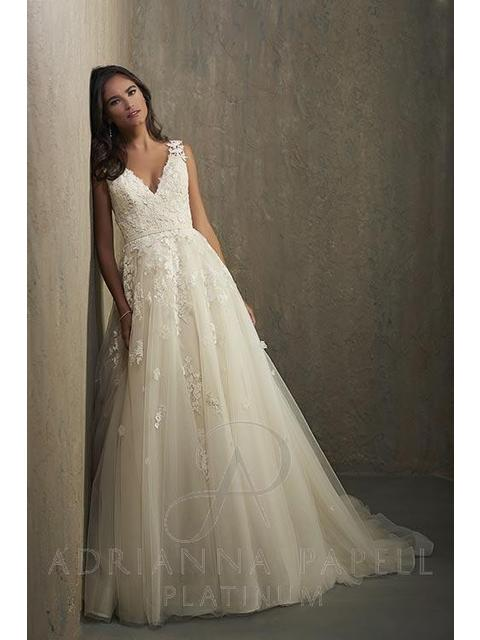 Adrianna Papell Hannah Wedding Dress New Size 14 1 350