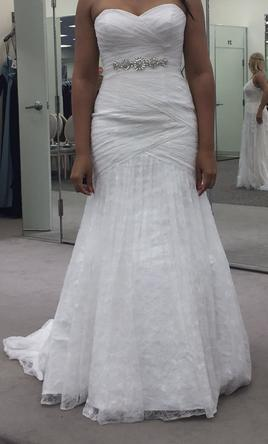David S Bridal Wedding Dress New Size 10 200