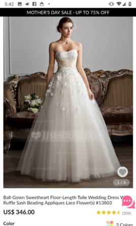 461d30887 JJ's House Floor length sweetheart ball gown, $280 Size: 22W | New ...