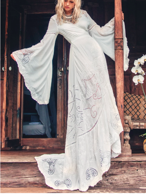Other The Gwendolyn Wrap Gown Wedding Dress Used Size 4 400,Mother In Law Wears Wedding Dress To Sons Wedding