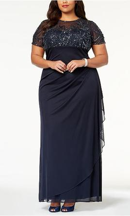 Other Xscape Plus Size Embellished Empire Waist Gown