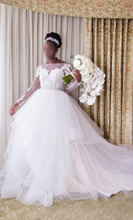 Hayley Paige Andi Gown Wedding Dress Used Size 10 2 000