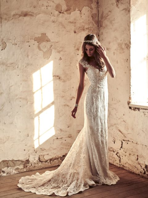 Anna Campbell Alyssa Wedding Dress Sample Size 8 1 250,Wedding Guest Maxi Dress With Sleeves