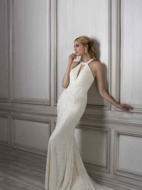 Adrianna Papell Lenora 31075 Wedding Dress New Size 4 1 100
