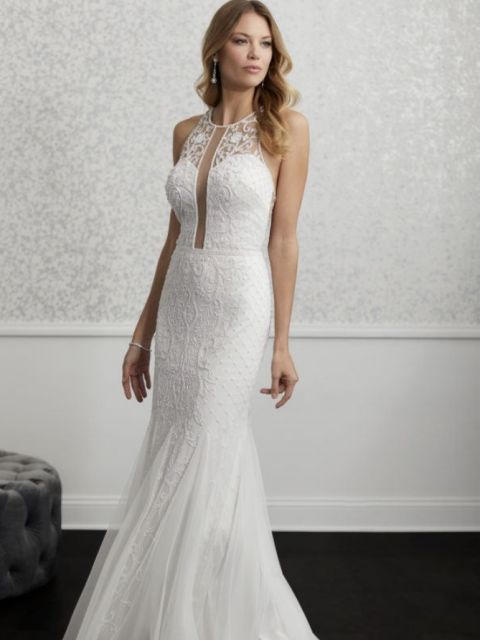 Adrianna Papell 40236 Wedding Dress Sample Size 10 350