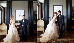 PreOwnedWeddingDresses.com Real Weddings | Photo: Akil Bennett Photography